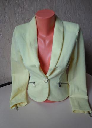 Шикарний піджак amisu, желтий пиджак, размер 34/36 (42/44)