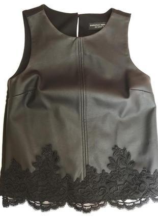 Кожаная блузка dorothy perkins