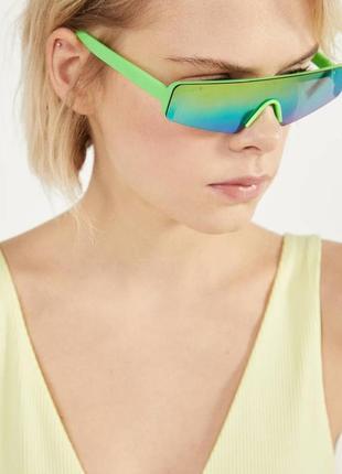 Очки окуляри узкие удлиненые со стеклами хамелеонами новые bershka zara