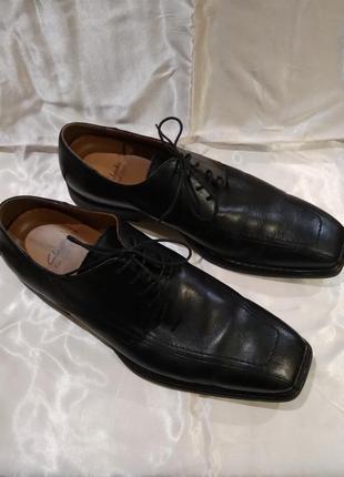 Туфли clarks flexlight кожаные