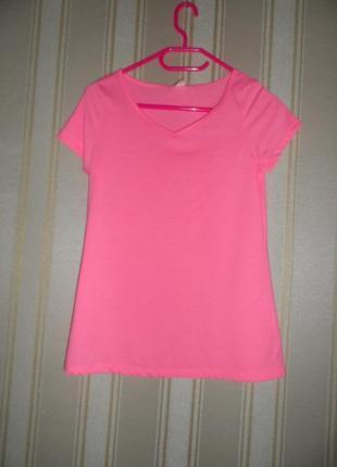 Женская розовая футболка размер 40// l