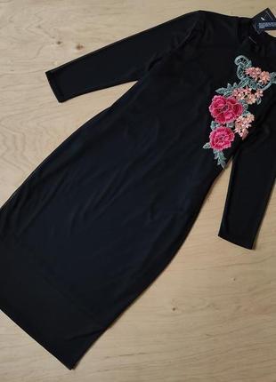 Новое  вечернее платье прямого кроя с вышивкой atmosphere