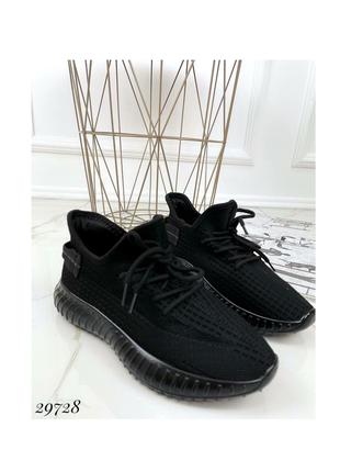 Текстильные кроссовки кеды чёрные летние демисезонные