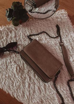 Сумка замшева сумочка клатч