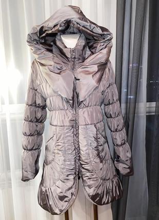 Италия пальто плащ пуховик с капюшоном