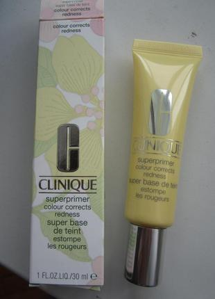Основа под макияж праймер clinique superprimer redness от покраснений