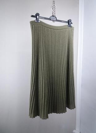 Акция!юбка в стиле prada вязаная миди плиссе