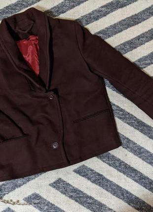 Шерстяное пальто - пиджак