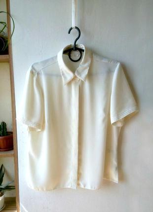 Шифоновая рубашка marks & spencer