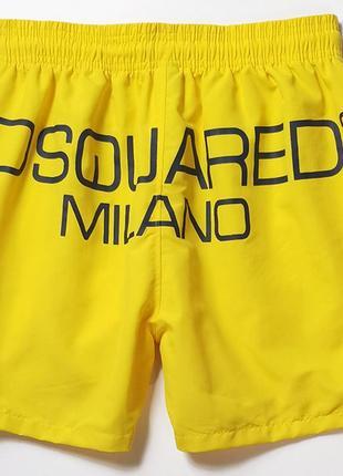 Мужские пляжные шорты (плавки) dsquared2, разные размеры, цвет желтый