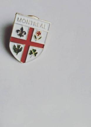 Брошь герб города монреаль