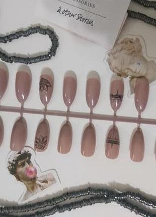 Накладные ногти с орнаментом 24 шт. типсы