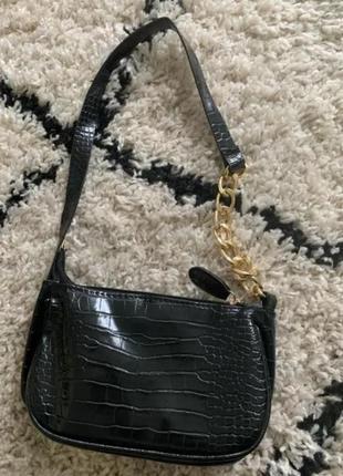New новая сумка багет цепи черная