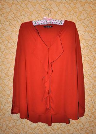 👚эффектная блуза терракотового цвета тм 'debenhams' р-р 22 uk, 50 eur, 54-56 rus