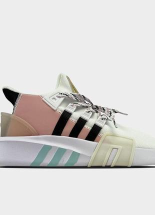 Кроссовки деми женские adidas eqt bask adv pink white