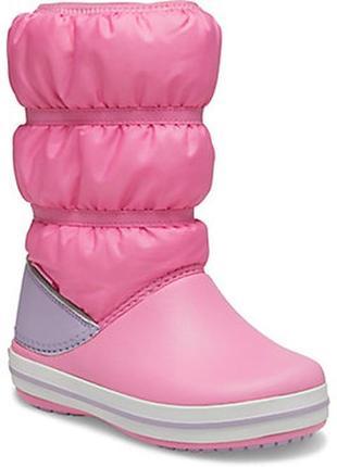 Детские сапоги crocs crocband winter boot, 100% оригинал