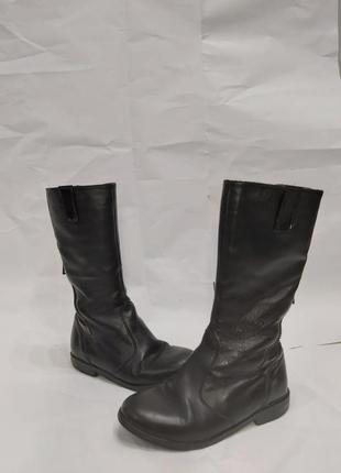 Черные сапожки высокие для девочки