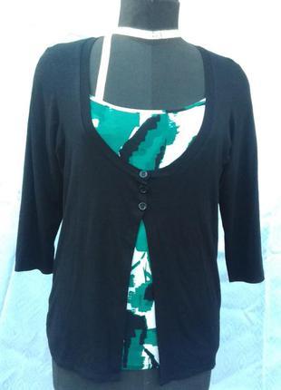 Распродажа!!! много скидок!!! классная блуза обманка mark & spencer