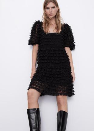 Zara объёмное платье