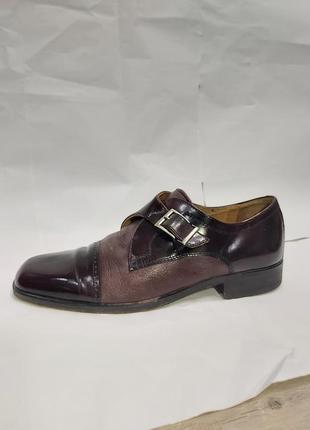 Мужские темно-фиолетовые туфли