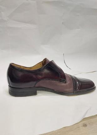 Мужские темно-фиолетовые туфли4 фото
