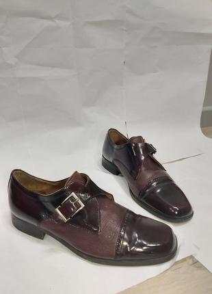 Мужские темно-фиолетовые туфли3 фото