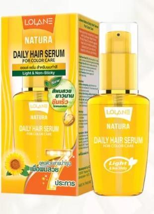 Тайская сыворотка для окрашенных волос lolane natura daily hair serum