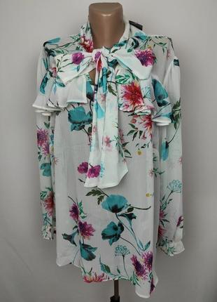 Блуза новая шикарная в принт большого размера uk 20/48/3xl