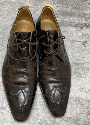 Туфли кожаные эксклюзивные oxmox, italy