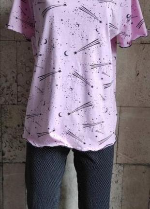 Пижамы красивые, свободного покроя.