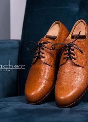 Дерби handmacher, германия 42,5 туфли мужские кожаные