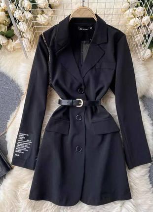 Чёрное платье пиджак