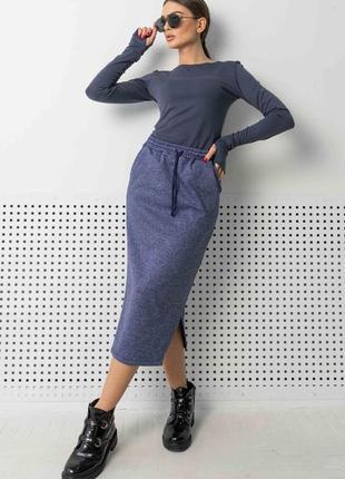 Женский трикотажный юбочный костюм с кофтой (ко 0921 rmmr)