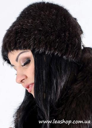 Меховая шапка кубанки из нутрии | женские головные уборы