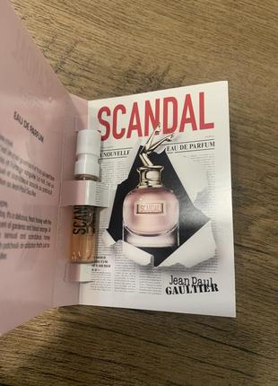 Пробник аромата scandal jean paul gaultier