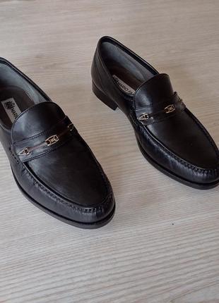 Mario fagni кожаные мокасины туфли туфлі 28
