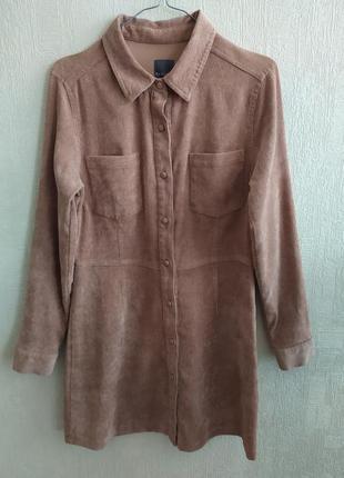 Вельветовое платье рубашка primark, ращмер м