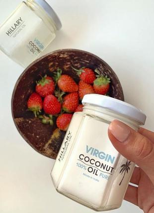 Нерафинированное кокосовое масло hillary virgin coconut oil, 200 мл