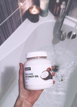 Рафинированное кокосовое масло hillary 100% pure coconut oil, 500 мл