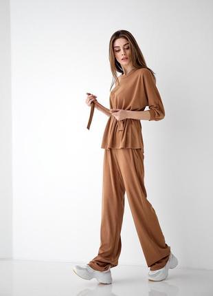 Женский трикотажный повседневный костюм 6705.4