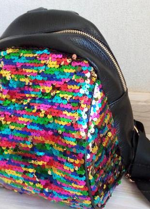 16b1b697c88a Очень модный рюкзак с пайетками., цена - 450 грн, #6935858, купить ...