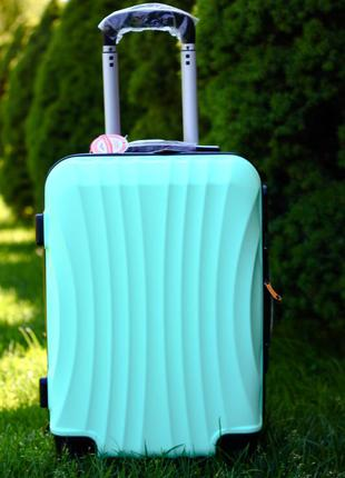 Качество! большой чемодан мятный бирюзовый без предоплат киев доставка бесплатно