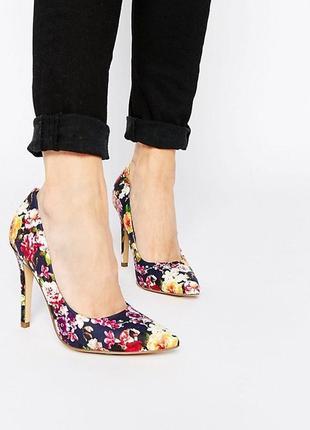 Шикарные трендовые туфли лодочки с цветами 38р+🎁платье