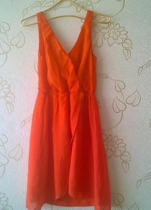 Платье каскад с асимметричной длиной