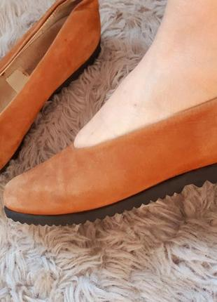 Замшевые туфли,балетки vagabond