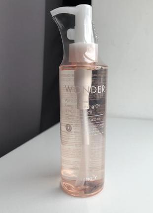 Гидрофильное масло с абрикосовых косточек tony moly wonder apricot seed deep cleansing oil