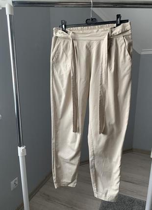 Штаны брюки бежевые