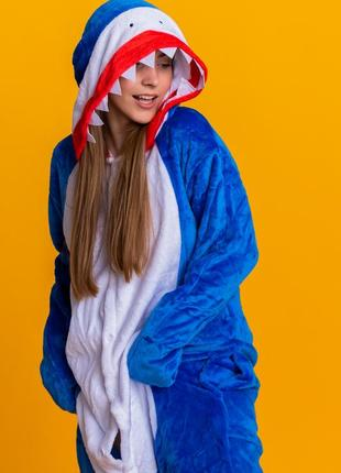 Распродажа! женская мужская пижама кигуруми акула - жіноча чоловіча піжама кігурумі акула