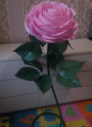 Торшер ручной работы роза из изолона