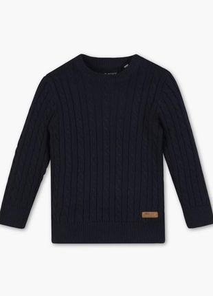Стильный вязаный свитер, джемпер в косичку на мальчика, palomino c&a